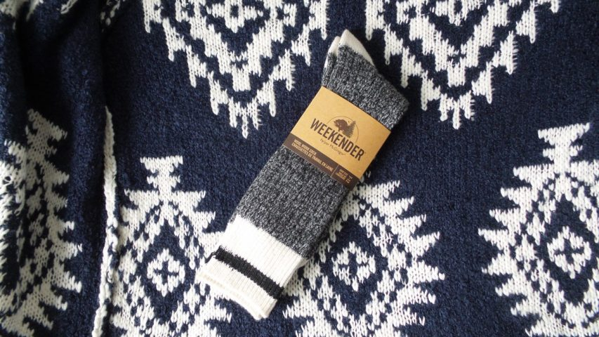McGregor Weekender Grey and Black Wool Work Socks