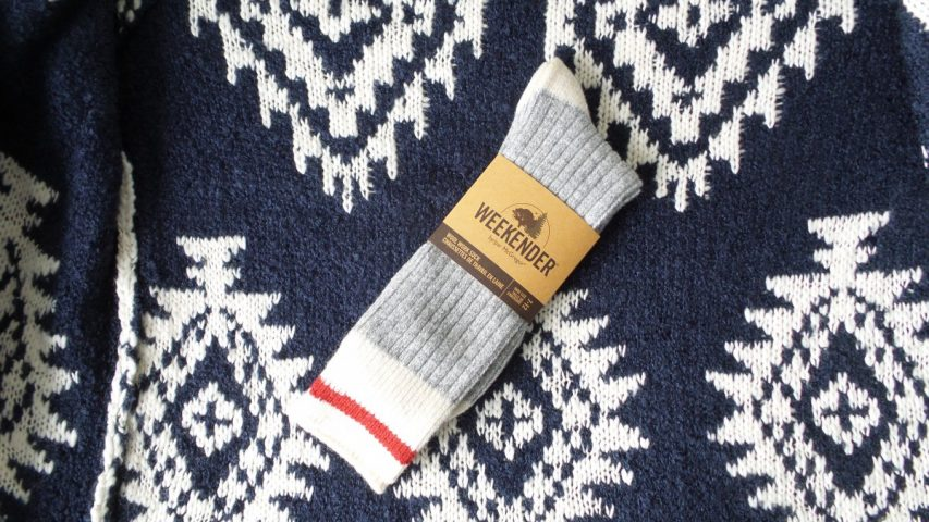 McGregor Weekender Grey and Red Wool Work Socks
