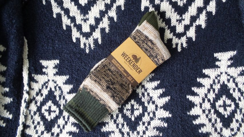 McGregor Weekender Brown and Green Cotton Comfort Socks